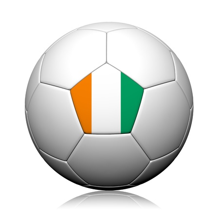 Italy Flag Pattern 3d rendering of a soccer ball Stock Photo - 14310634
