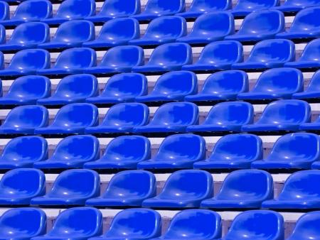 regular Blue seats in a stadium photo