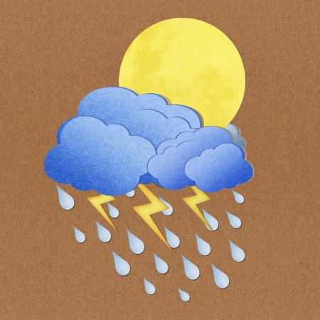 Weather grunge  paper texture on brown background photo