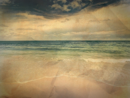Vintage seascape Stock Photo - 14696693