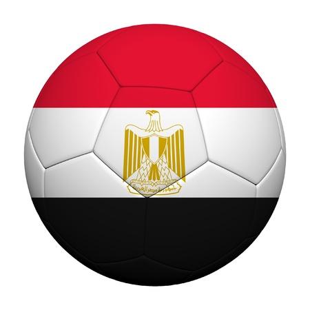 flag of egypt: Egipto Bandera patr�n 3d prestaci�n de un bal�n de f�tbol