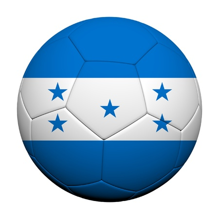 Honduras Flag Pattern 3d rendering of a soccer ball photo