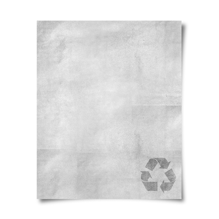 Blank paper with recycle sign photo