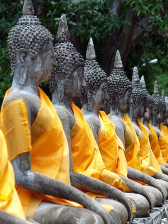 Buddha statue in Wat Yai Chai Mongkol- Ayuttaya of Thailand photo