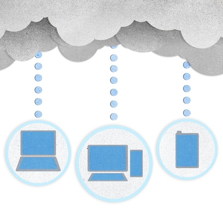 Recycle paper, Cloud computing concept. Stock Photo - 15360789