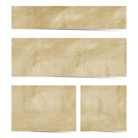 papel reciclado: Palo de papel reciclado en el fondo blanco Foto de archivo