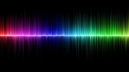 spectrum: Abstract rainbow wave colours
