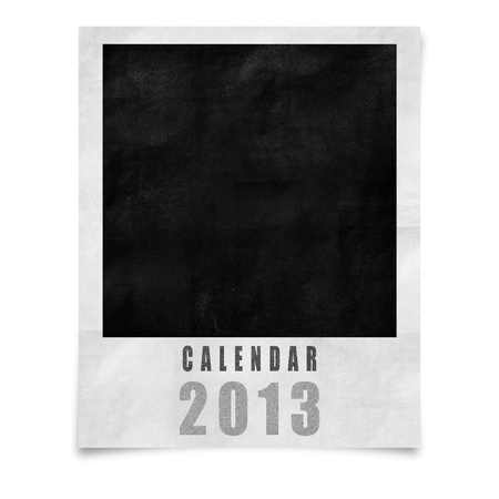 2013 year calendar ,Cover calendar 2013  isolated on white photo