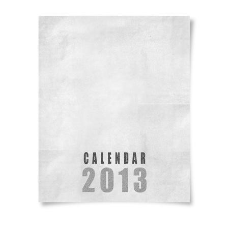 2013 year calendar ,Cover calendar 2013  isolated on white Stock Photo - 15588872