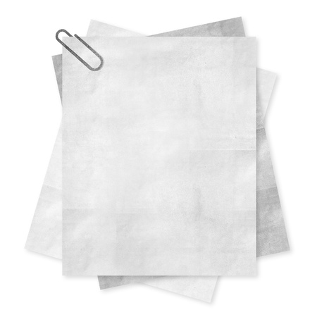 Blank paper isolate on white background photo