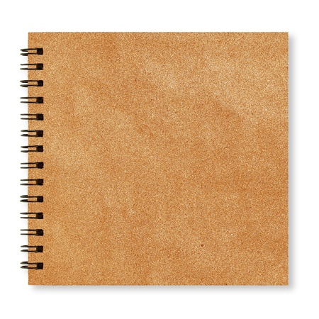 recycled paper notebook front cover photo