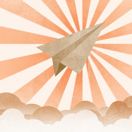Paper Texture,Paper airplanes flying against sky and clouds photo