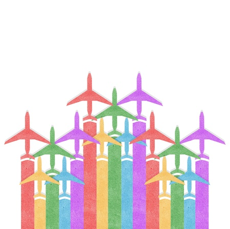 Paper texture,Colorful Airplanes background Stock Photo - 16539736