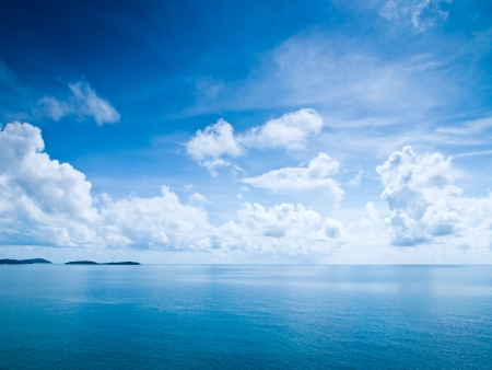 Beautiful blue sky sea view photo