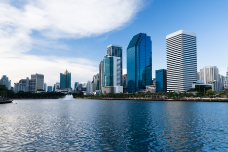 Business area buildings of Bangkok, Thailand Stock Photo - 16539403