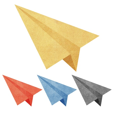 Paper texture,Colorful paper airplanes. Illustration on white background illustration