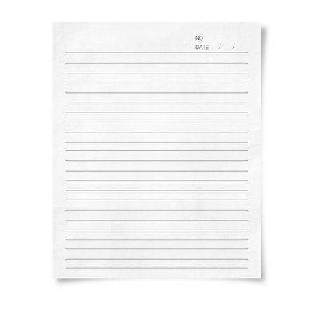 illustration of white paper with line on white background illustration