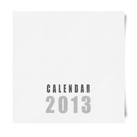 2013 year calendar cover on recycle paper Stock Photo - 16676617