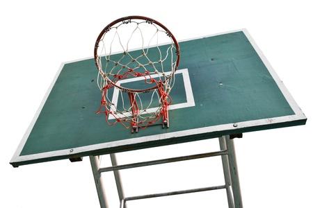 backboard: Basketball backboard , basketball court isolated on white background Stock Photo