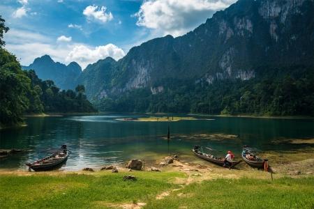 Cheo Lan lake  Khao Sok National Park  Thailand  photo