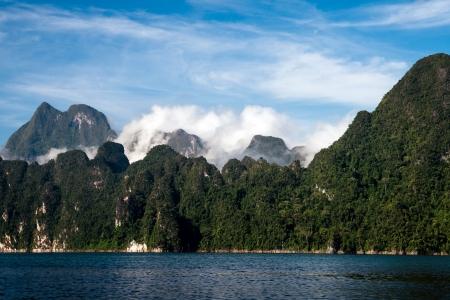 Cheo Lan lake. Khao Sok National Park. Thailand. photo