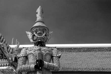 Thai Demon in Grand Palace , Bangkok Thailand photo