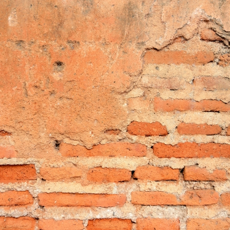 Old red grunge brick wall photo