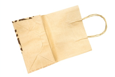 Brown paper bag isolated on white background Stock Photo - 18370807