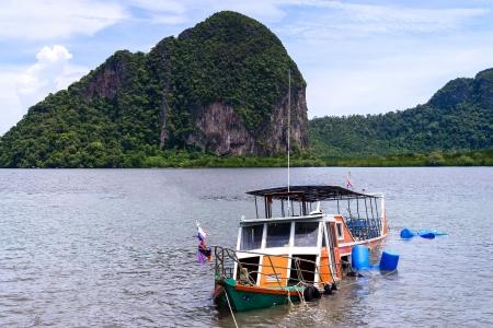 The passenger boat sank at Trang province ,Thailand  photo
