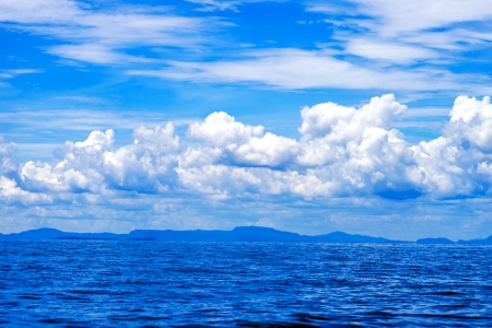 sky  sea: Bella vista sul mare blu cielo Archivio Fotografico