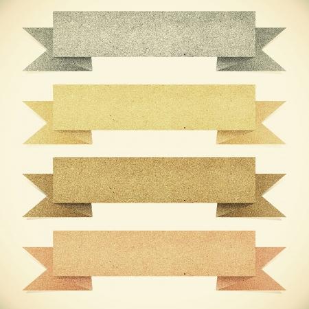 Oud papier textuur, Header tag gerecycled papier op een vintage toon achtergrond Stockfoto