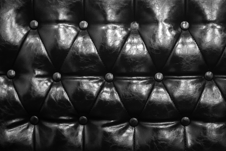 Black and White of  leather texture of sofa closeup shot photo