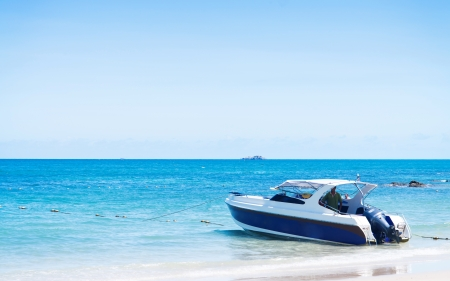 Speed boat in the summer photo