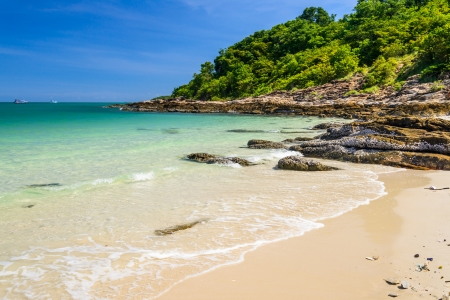 Idyllic Scene Beach at Samed Island,Thailand photo