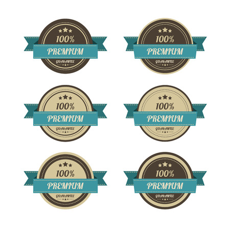 Set of retro vintage badges and labels. photo