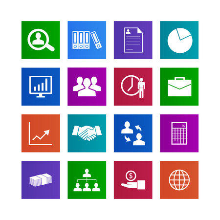 Business finance and money icon set illustration  Stock Illustration - 23362566