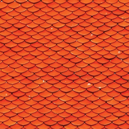 Orange geometric vector seamless pattern. photo
