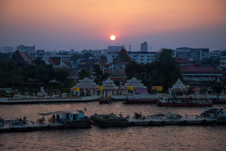 View of the Chao Phraya River in Bangkok, Thailand