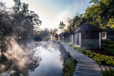 Fang Hot Spring National Park is part of Doi Pha Hom Pok National Park in Chiang Mai, Thailand