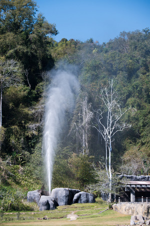 fang Hot Spring National Park is part of Doi Pha Hom Pok National Park in Chiang Mai, Thailand photo