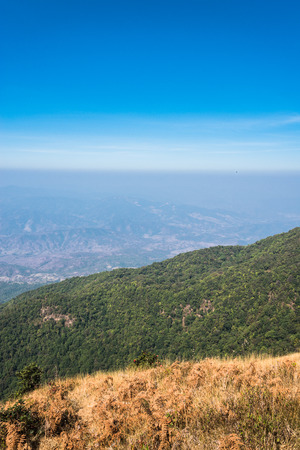 Viewpoint at Kew mae pan nature trail, Doi Inthanon national park, ChiangMai, Thailand photo