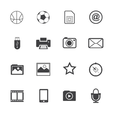 Black and White mobile phone icons Vector