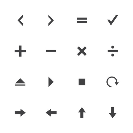 Black and White collection calculator and computer icons Vector
