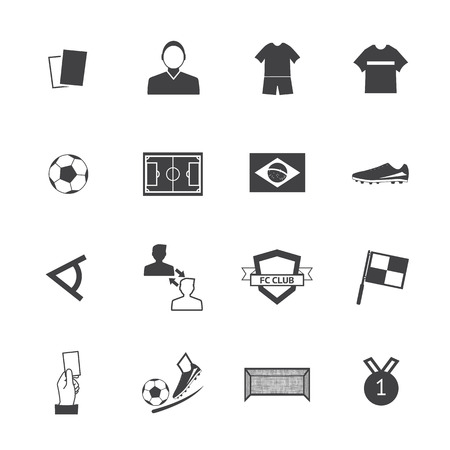 Black and White Soccer football icons  Vector
