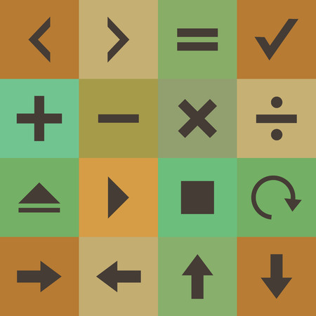 addition: Retro style collection calculator icons set.