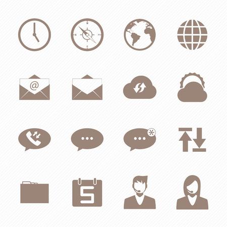 call log: Brown icon mobile phone set