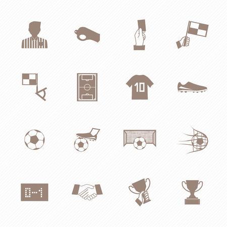 offside: Soccer football icons
