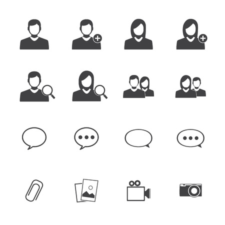 Aplication mobile chat icônes Vecteurs