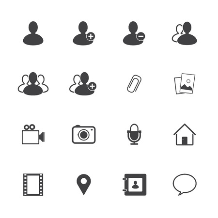 Chat icons set Vector