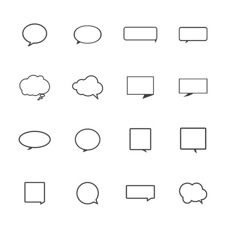 Speech bubble icons on white background. Vector